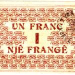 Ana e pasme e kartëmonedhës 1 frang emetim i vitit 1917. Foto kortezi: Banka e Shqipërisë
