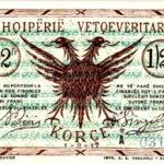 Kartëmonedhë gjysmë frange, emetim i vitit 1917. Foto kortezi: Banka e Shqipërisë