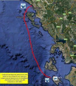 Harta e trafikut të drogës nga Saranda për në Greqi me skafe, e publikuar nga policia greke.