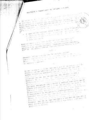 Faksimile e kontratës për themelimin e shoqërisë Durazzo -Iliria-Frascino, DIF | Foto nga : BIRN